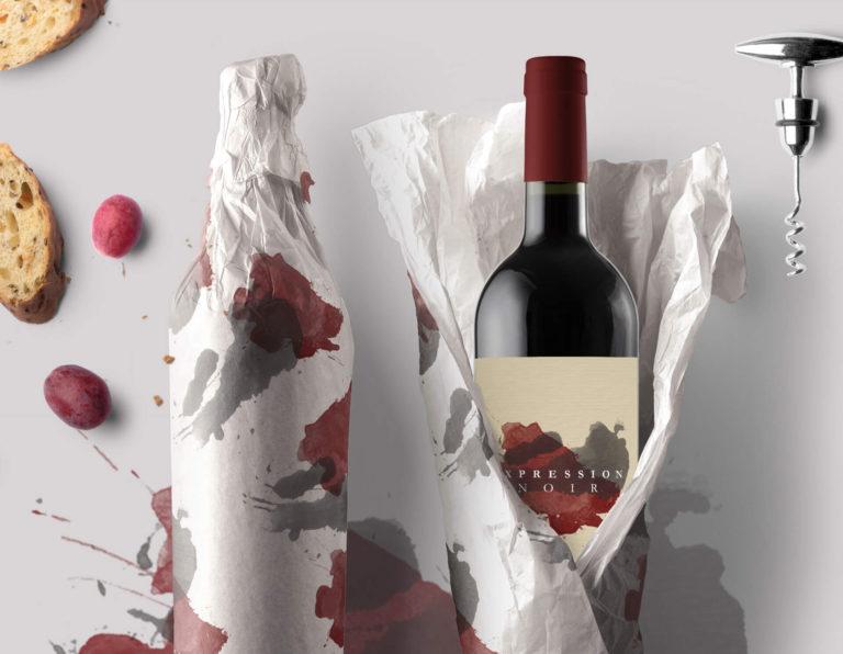 Expression Noir - Rótulo de Vinho