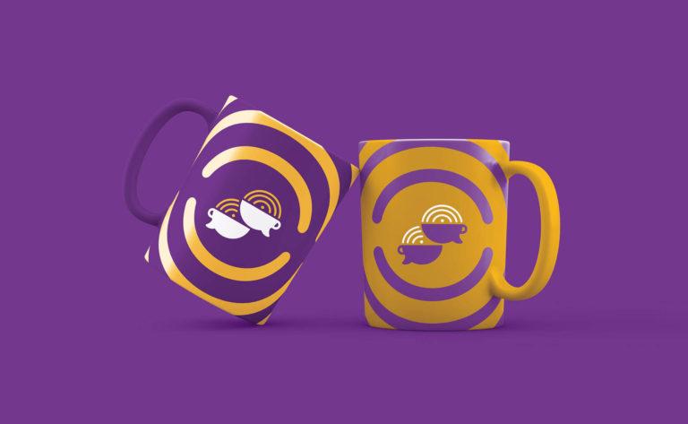 Podcast Café com Leite - Design de Caneca