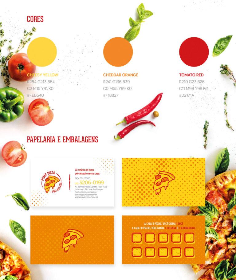 Pump Pizza - Design de cartão de visita