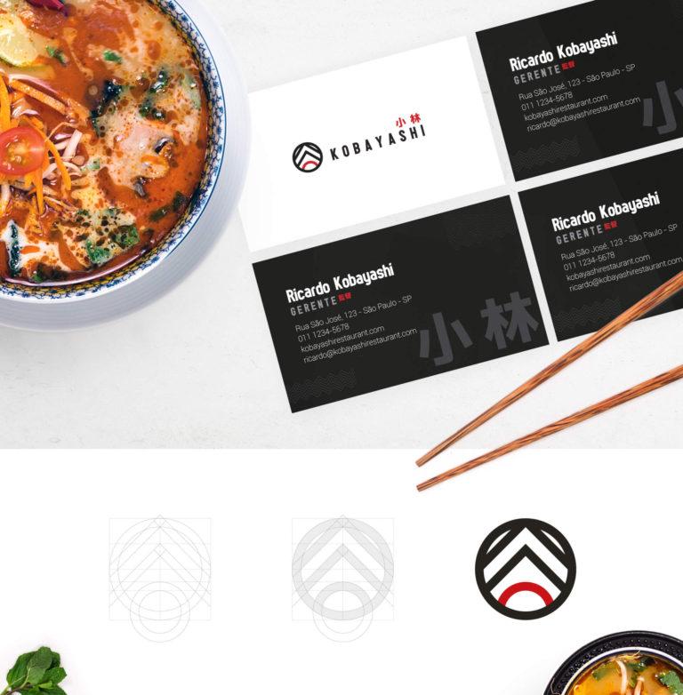 Kobayashi - Logotipo de Restaurante Japonês