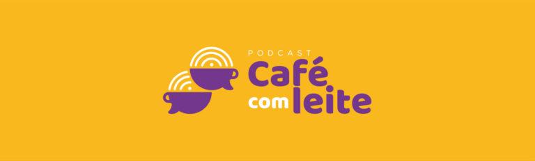 Podcast Café com Leite - Logotipo