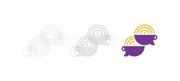 Podcast Café com Leite - Grid de Logotipo