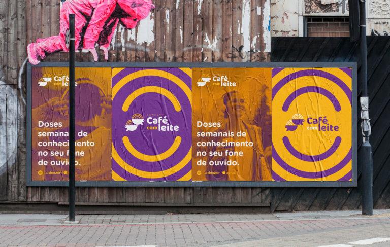 Podcast Café com Leite - Design de Cartazes